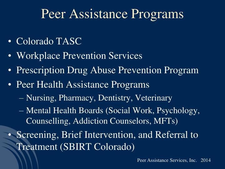 Peer Assistance Programs