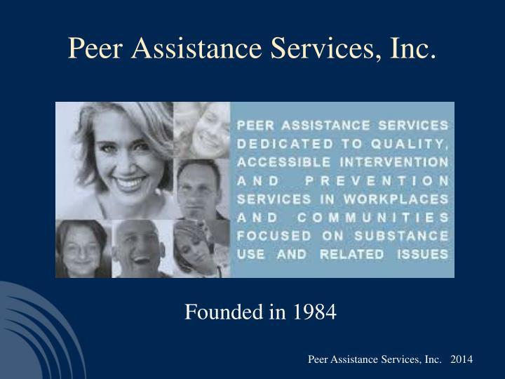 Peer assistance services inc