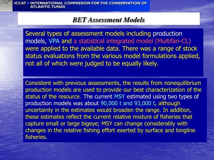 BET Assessment Models