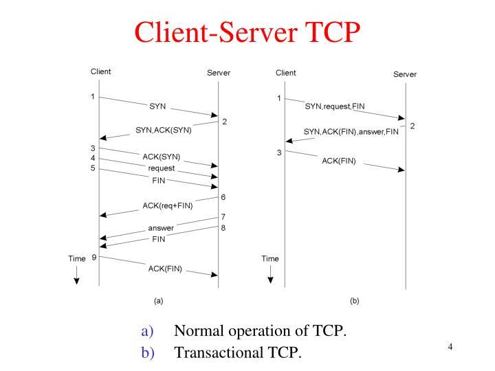 Client-Server TCP