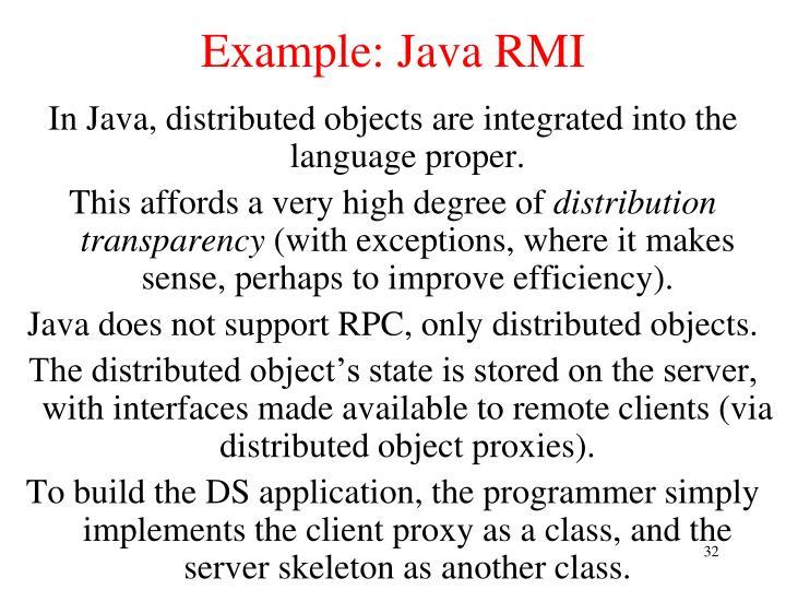 Example: Java RMI