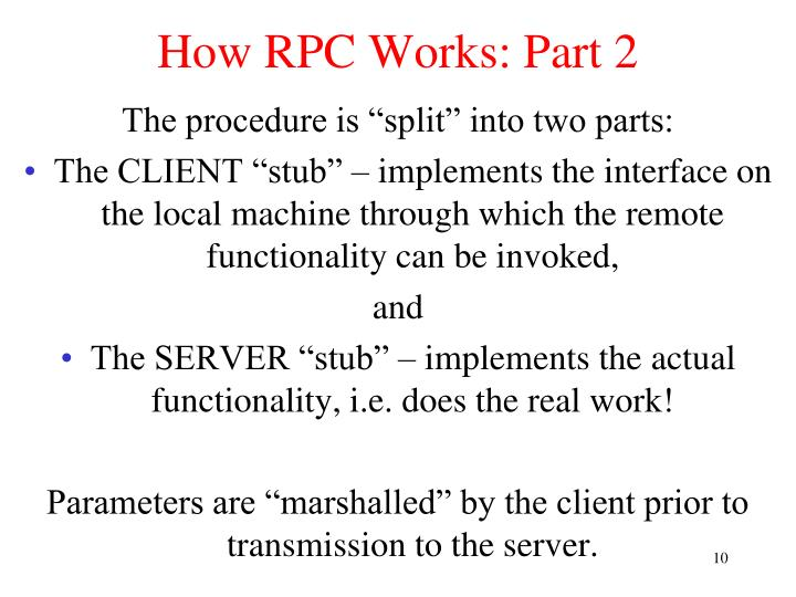 How RPC Works: Part 2