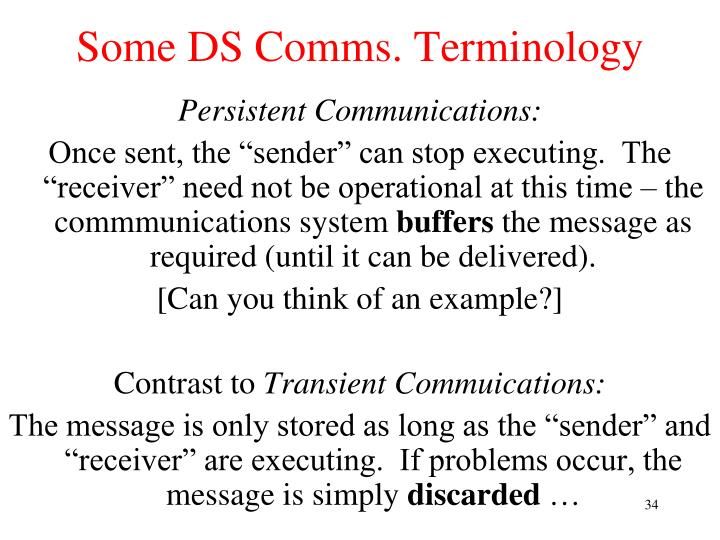 Some DS Comms. Terminology