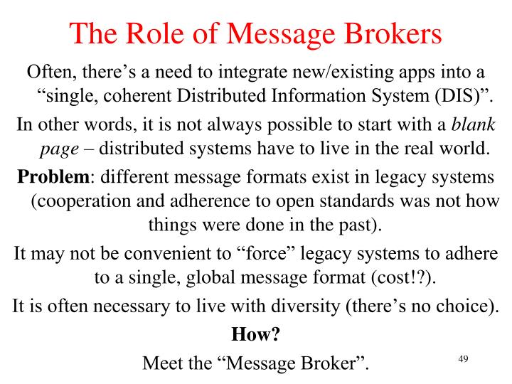 The Role of Message Brokers