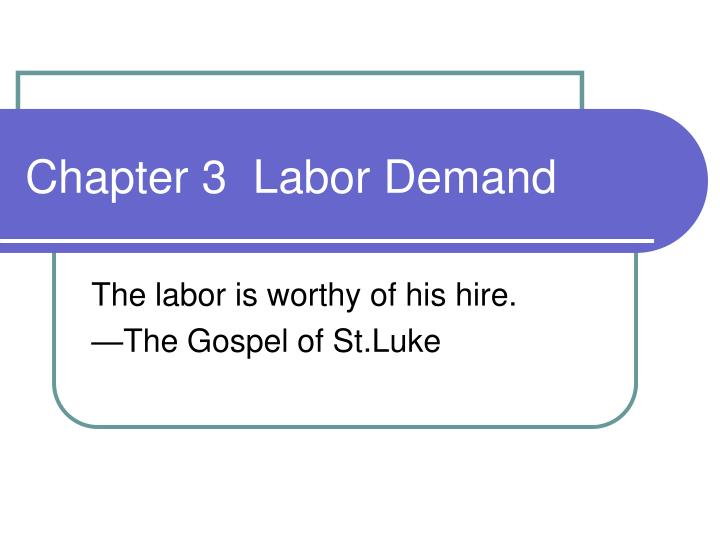 chapter 3 labor demand n.