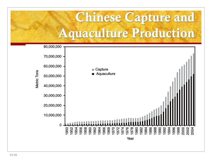 Chinese Capture and Aquaculture Production