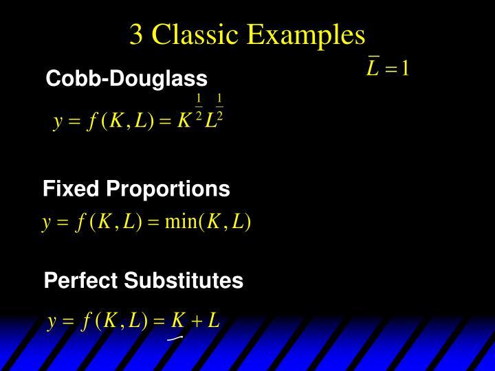 3 Classic Examples