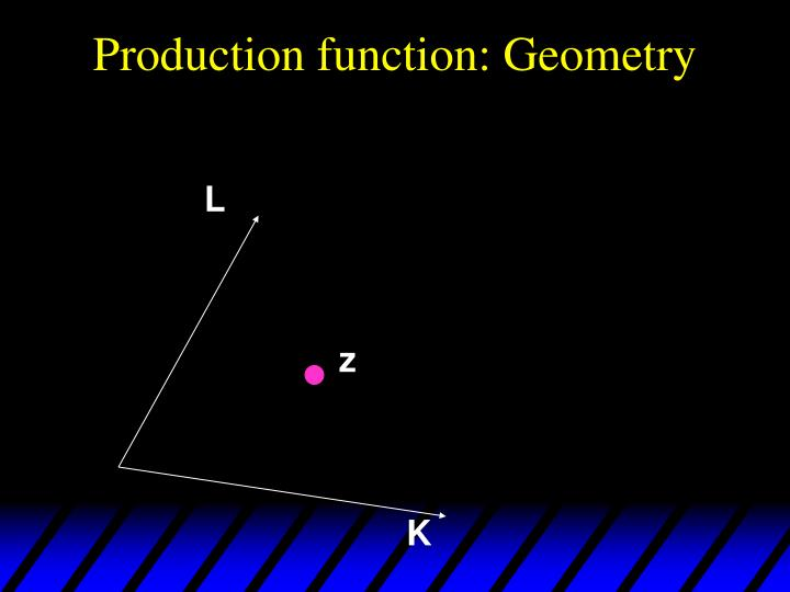 Production function: Geometry