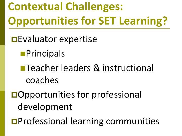 Contextual Challenges:
