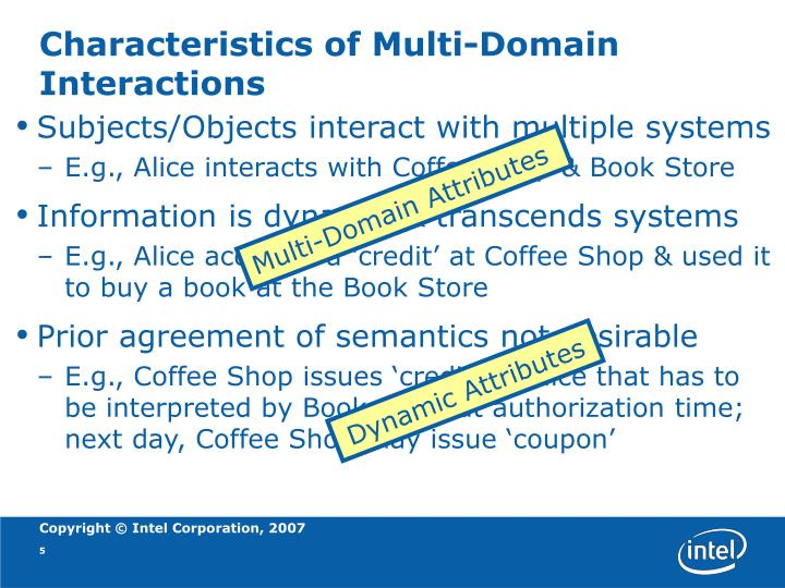 Characteristics of Multi-Domain Interactions