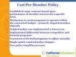 cost per member policy