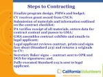 steps to contracting