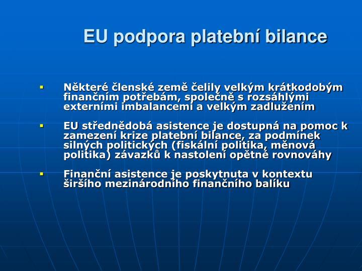 EU podpora platební bilance