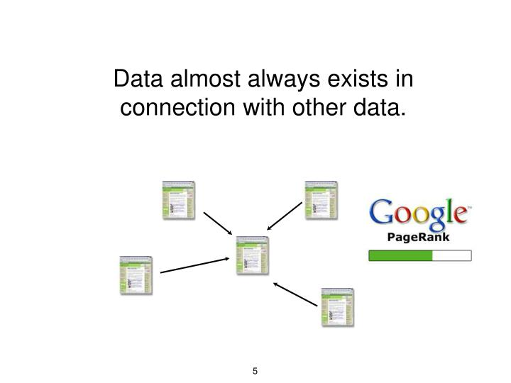 Data almost always exists in connection with other data.