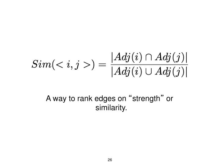 A way to rank edges on