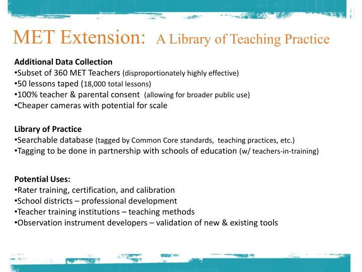 MET Extension: