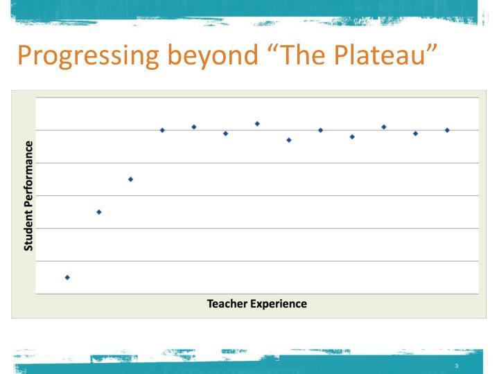 Progressing beyond the plateau