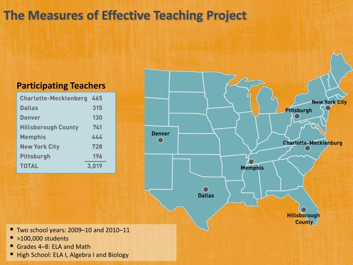 The Measures of Effective Teaching Project