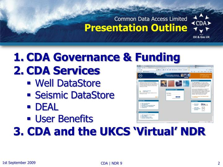Common data access limited presentation outline