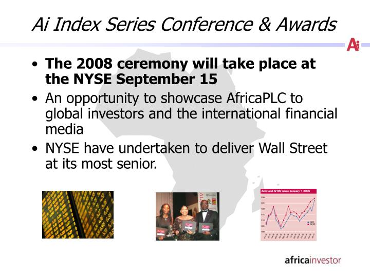 Ai Index Series Conference & Awards