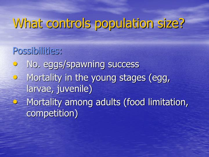 What controls population size?
