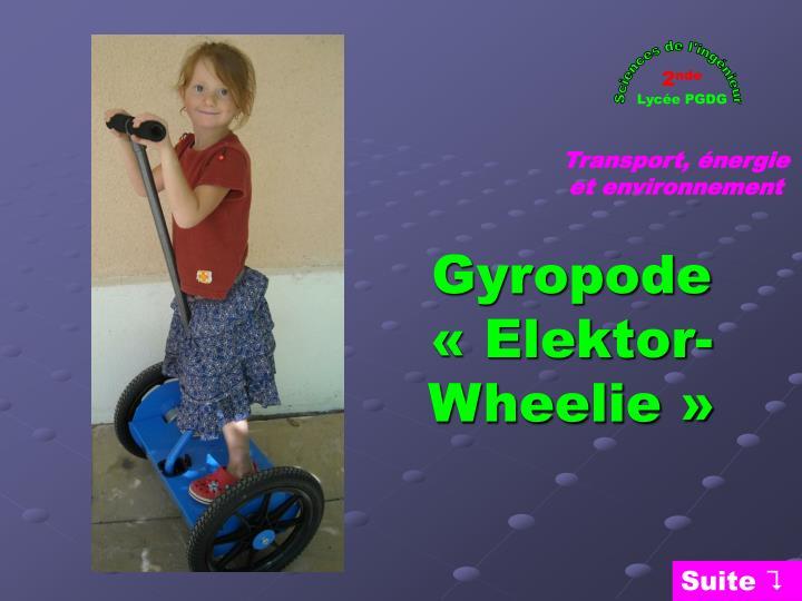 gyropode elektor wheelie n.