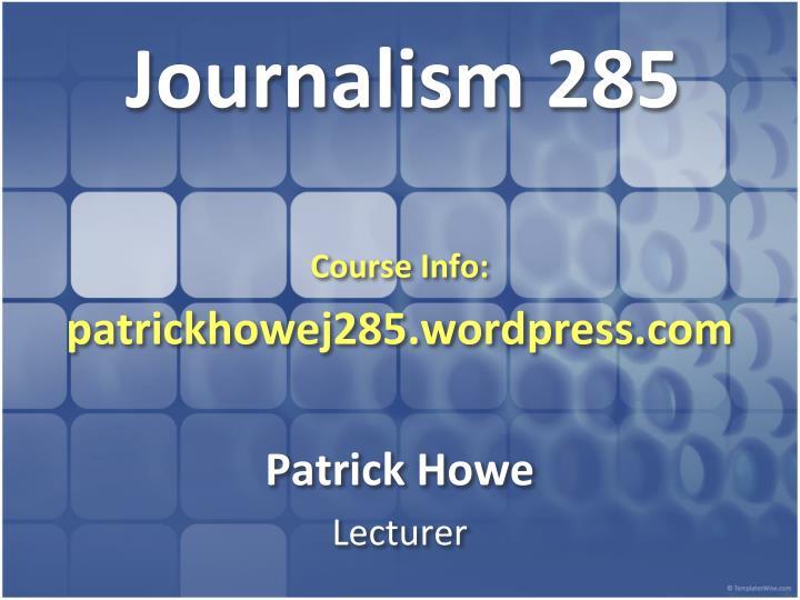 journalism 285