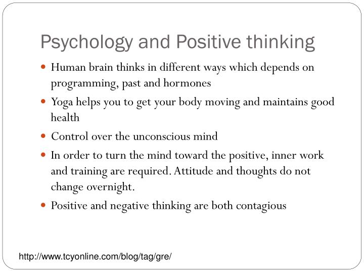 Psychology and Positive thinking