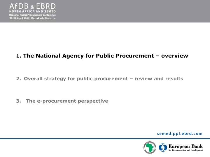 Regional public procurement conference
