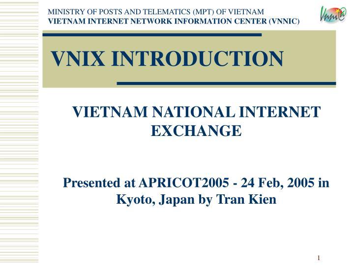 Vnix introduction
