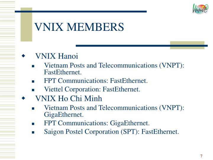VNIX MEMBERS