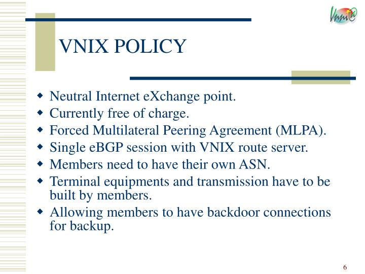VNIX POLICY