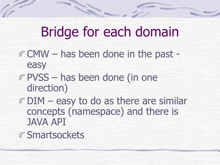 Bridge for each domain