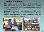 11 condom distribution