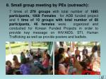 8 small group meeting by pes outreach