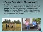 9 face to face talk by pes outreach