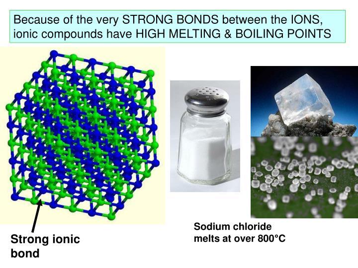 Strong ionic bond