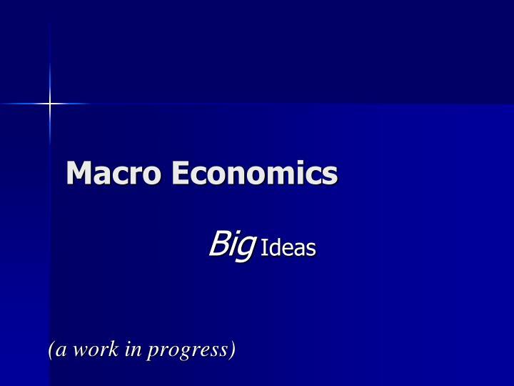 macro economics n.