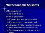 microeconomic ss shifts