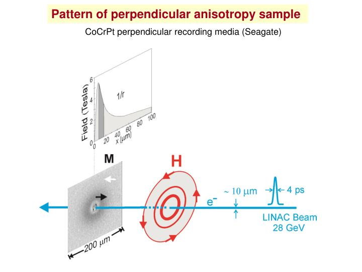 Pattern of perpendicular anisotropy sample