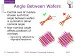 angle between wafers