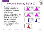 module survey data 2