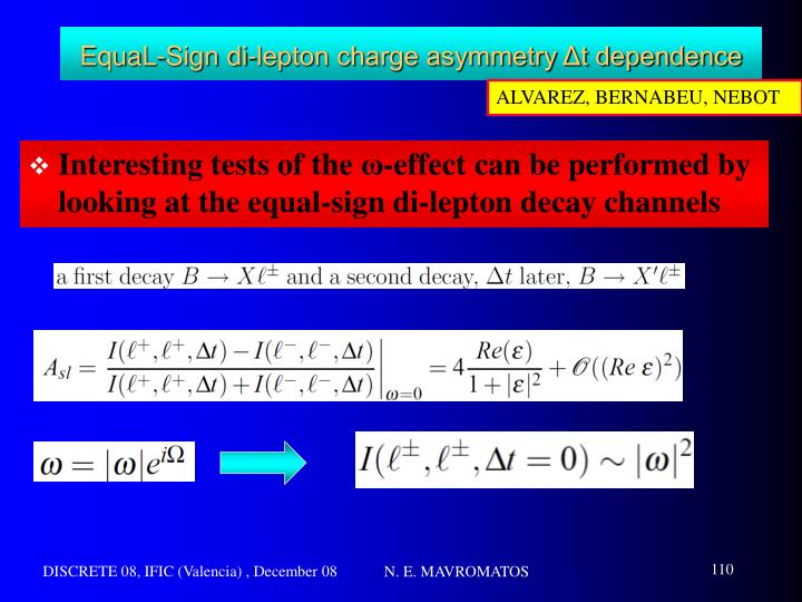 EquaL-Sign di-lepton charge asymmetry Δt dependence