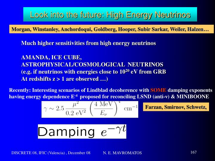 Look into the future: High Energy Neutrinos
