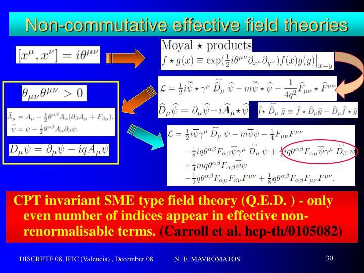 Non-commutative effective field theories