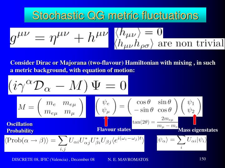 Stochastic QG metric fluctuations