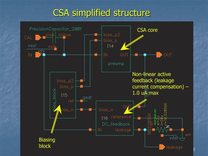 CSA simplified structure