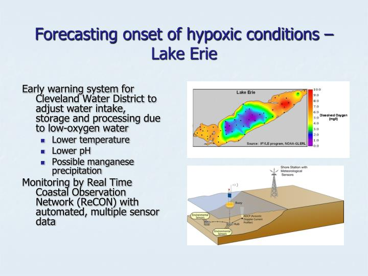 Forecasting onset of hypoxic conditions – Lake Erie