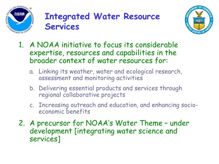 Integrated water resource services1
