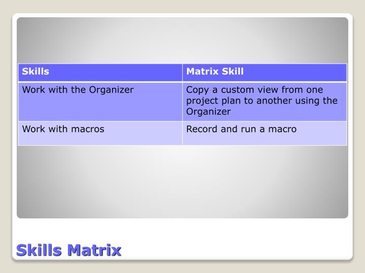 Skills matrix1
